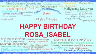RosaIsabel   Languages Idiomas - Happy Birthday