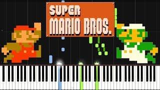 Overworld Theme - Super Mario Bros. [Synthesia Piano Tutorial]