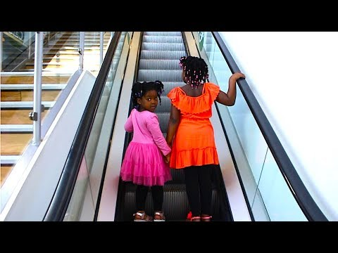 Funny Kids Doing Shopping At The Supermarket, Drinking Slushie And Playing HIDE AND SEEK