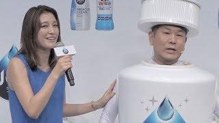 木下優樹菜と藤本敏史夫婦が2月28日に新宿パークタワーで行われたP&G「...