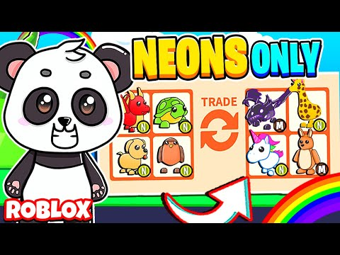 Trading ONLY NEON PETS In Adopt Me! (Roblox Adopt Me)
