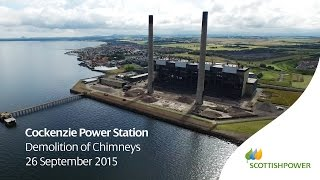 Cockenzie Chimney Demolition - HD Drone Footage - ScottishPower