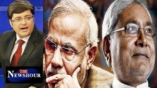 Grand Alliance Vs BJP   Exit Polls with Nitish   Bihar : The Newshour Debate ( 5th Nov 2015 )