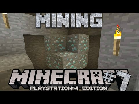Minecraft PS4 Survival #7 | Mining!