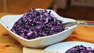 Салат из краснокочанной капусты с домашним майонезом/Purple cabbage salad