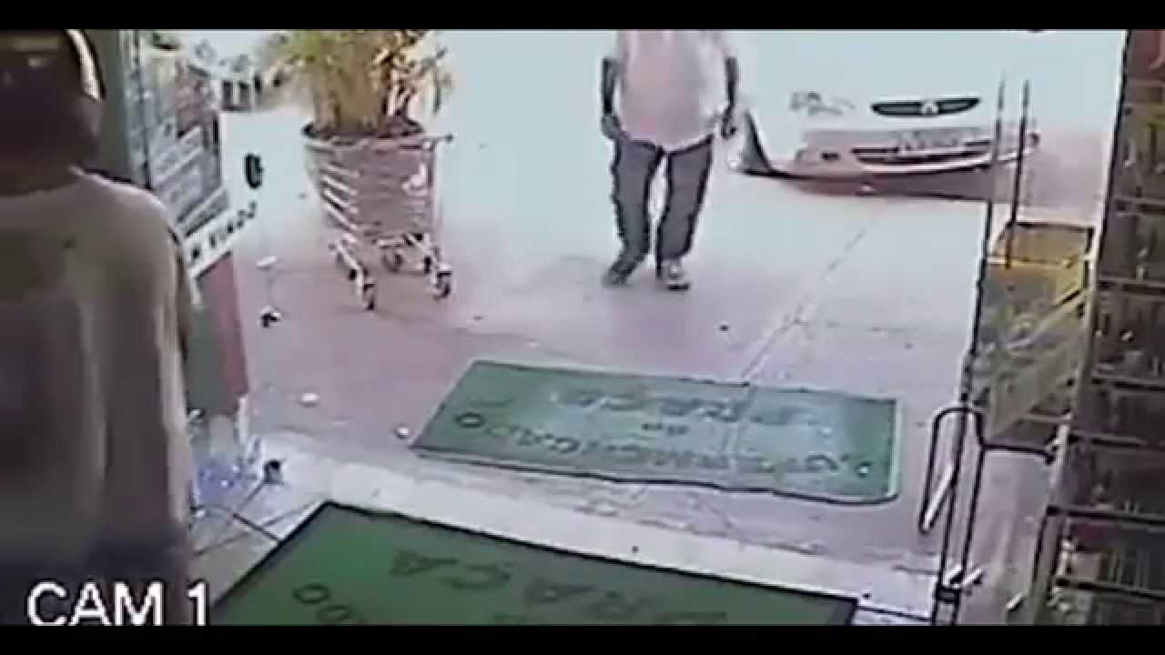 Old man shows a robber whos the real thug