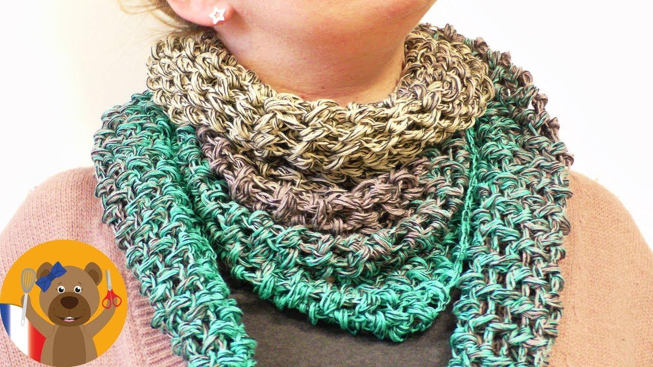 Crocheter Pour Le Printemps Etole En Laine Bobbel Cotton Xtra De