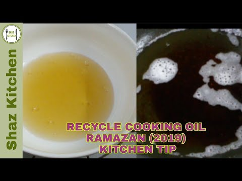 How To Recycle Cooking Oil|Clean Oil After Frying Snacks Kitchen Tip_Ramzan Special By Shaz Kitchen