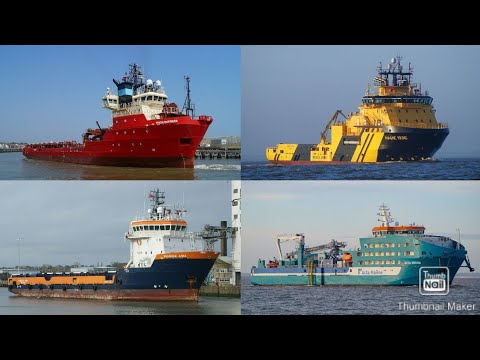 Offshore supply/support ships - Compilation of photo's taken 2018/2019.
