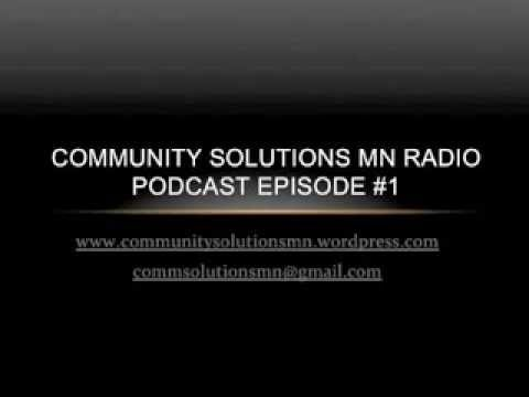 Community Solutions Radio Podcast Episode 1