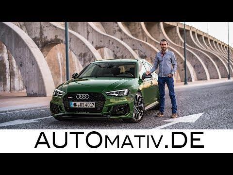 Audi RS4 Avant 2018 (2.9l V6 Biturbo, 450 PS) im Test und Fahrbericht
