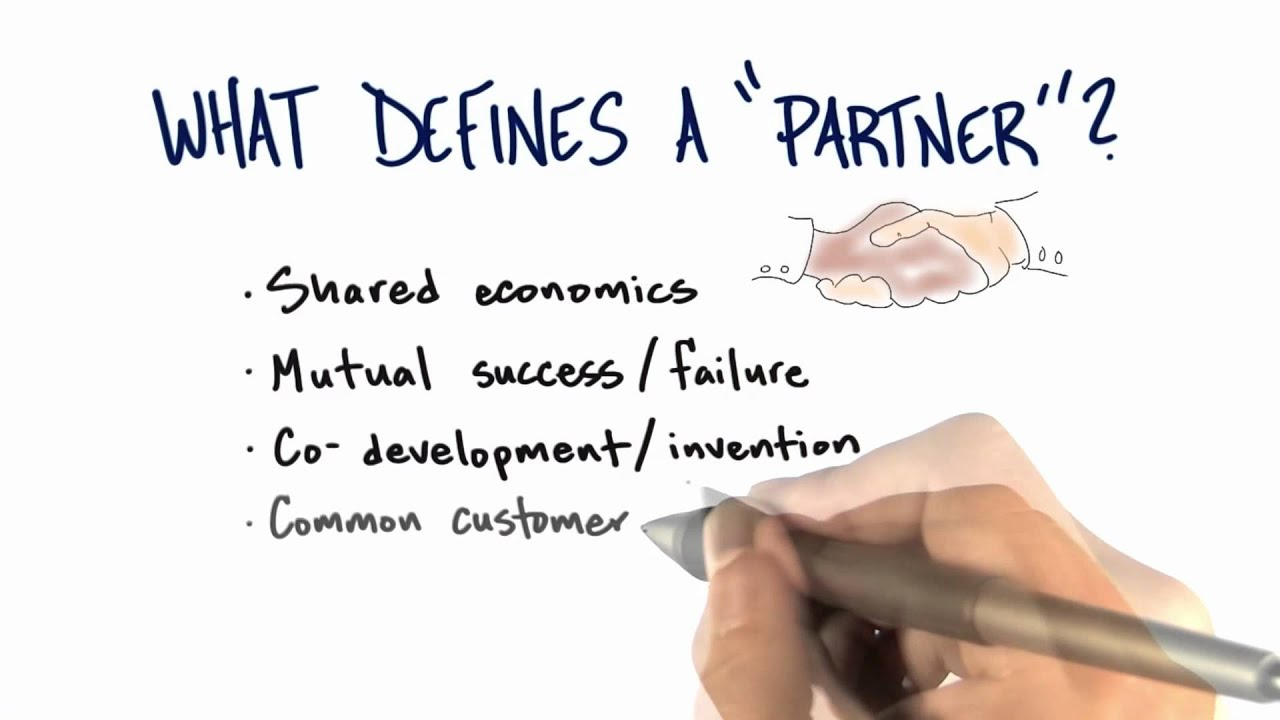 Partner Definition - How to Build a Startup