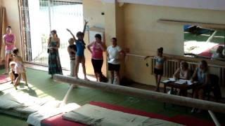 Спортивная гимнастика Суркова Полина на бревне