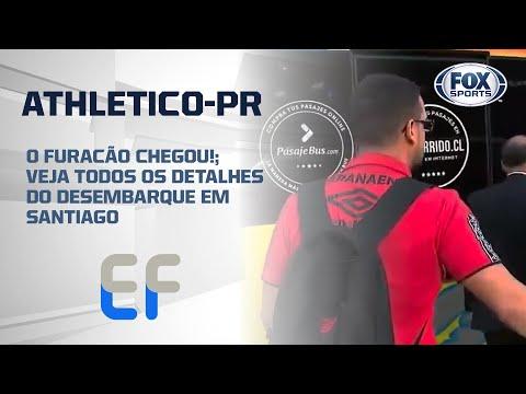 O FURACÃO CHEGOU!; Veja todos os detalhes do desembarque do Athletico-PR em Santiago, no Chile