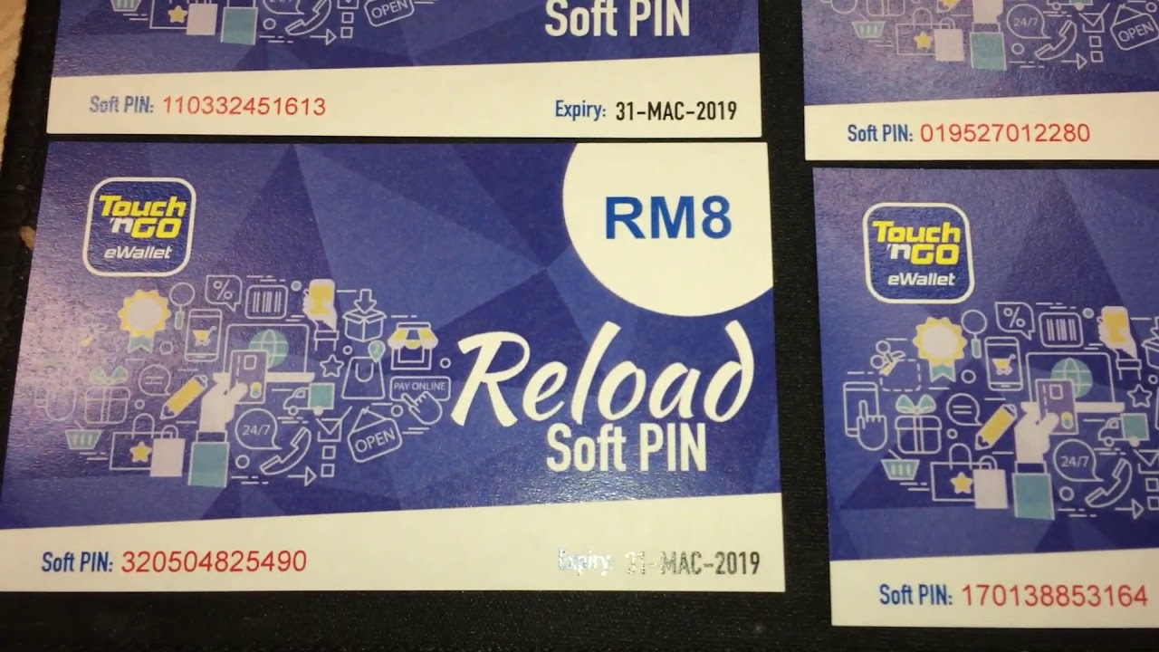 Touch N Go E Wallet Reload Soft Pin Rfid Part 2 Youtube