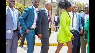 AKOTHEE CAUSES DRAMA IN PARLIAMENT AS SHE SHOWS UP IN A MINI SKIRT!!