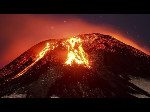 Raw Video: Villarrica Volcano in Chile Erupts