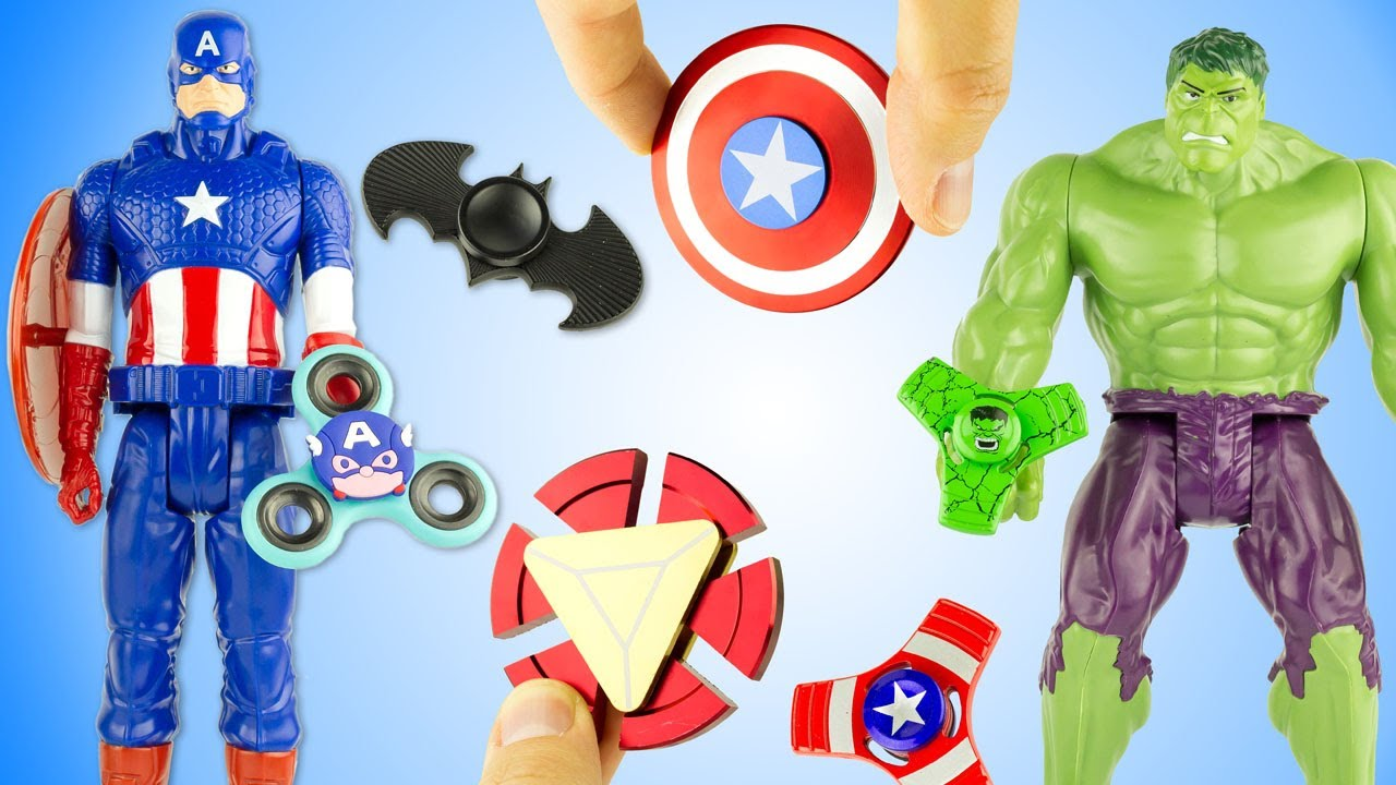 Finger America Spinner Toy Super Hand Captain Heroes Rare Fidget Iron 11 Man Review Collection cTKl1J3F