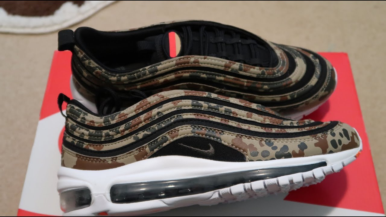 55f3ca6ce4 Nike Air Max 97 Country Camo 'Germany' Sneaker Unboxing - YouTube