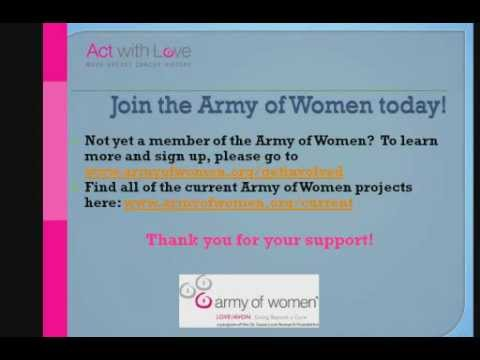 Army Of Women Research Results: A Conversation With Dr. David Spiegel.wmv