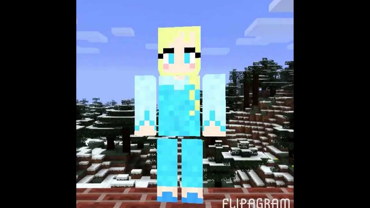 Frozen Elsa And Anna Minecraft Skins YouTube - Skin para minecraft pe frozen