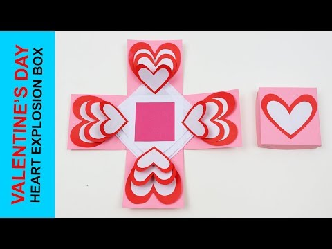 DIY: HOW TO MAKE AN EASY HEART EXPLOSION BOX !!! EXPLODING HEART GIFT BOX FOR VALENTINE'S DAY !!!