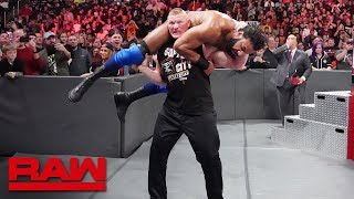 Brock Lesnar sends Jinder Mahal and The Singh Brothers to Suplex City: Raw, Nov. 12, 2018