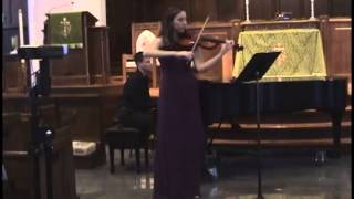 Lydia Burrage-Goodwin Brahms Sonata No. 1 in G Major, Op. 78 for Violin and Piano