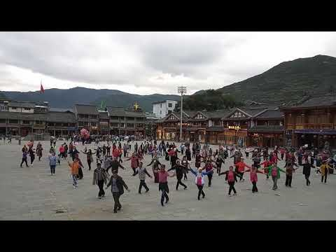 People Square Dancing in Songpan (Aba Prefecture, Sichuan, China)