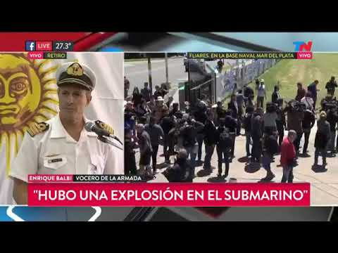 Dia 8 de la busqueda del ARA San Juan. Confirman que hubo una explosion