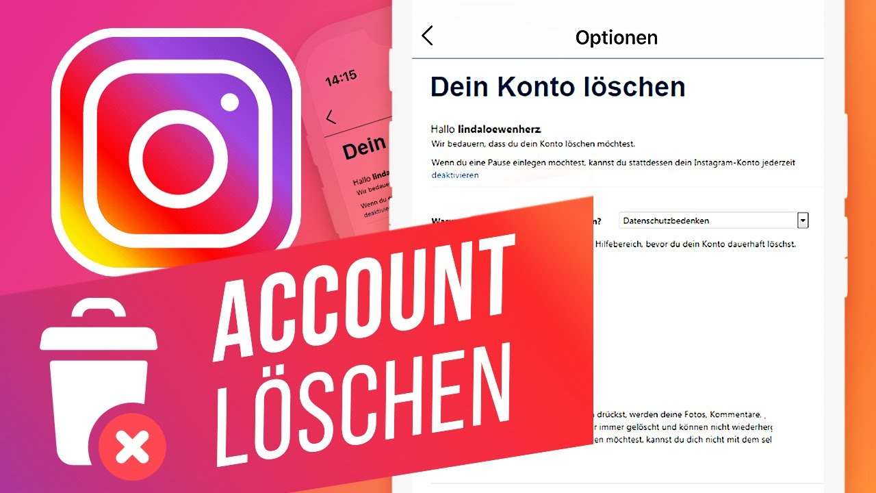 Instagram-Account am Computer löschen - YouTube