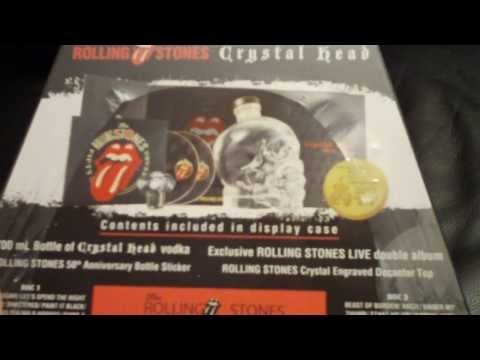 The Rolling Stones Crystal Head Skull Vodka CD box set. Limited Edition