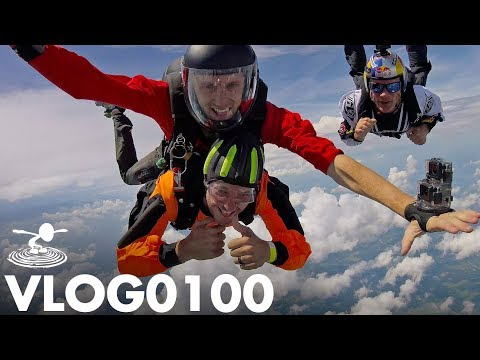 JUMPIN' OUTTA PLANE WITH RED BULL | VLOG0100