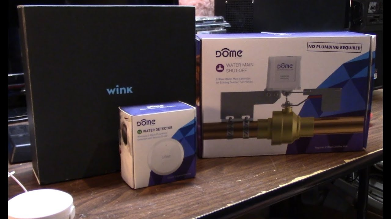 Episode 54 Review + install of the Dome Zwave water main shut off valve,  and the Dome water sensor,