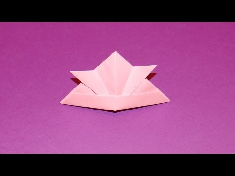 How To Make An Origami Hat 06 Youtube
