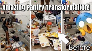 Time Lapse Cleaning Extreme Pantry Transformation Clean And Declutter With Me Real Life Messy Pantry