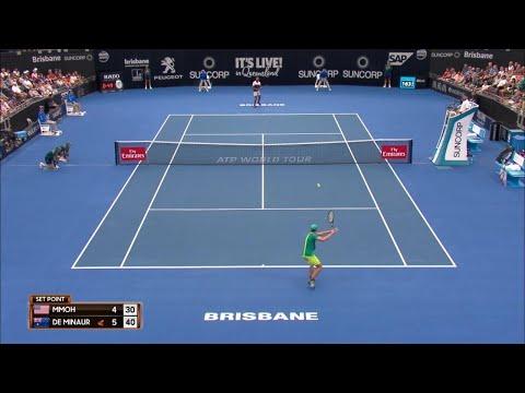 De Minaur vs Mmoh Match Highlights (QF) | Brisbane International 2018