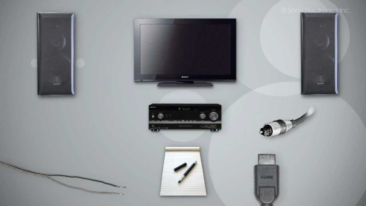 For Home Entertainment System Wiring Diagram How To Hook Up A Home Theater Using Your Sony Tv Youtube