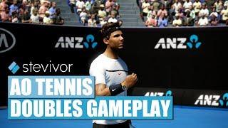 (4K, 60fps) AO Tenis oyun: (Haritayı Mahkemesi) Çift - Xbox Bir X Stevivor |