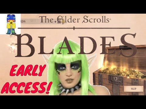 ELDER SCROLLS BLADES NOOBS LIVE FROM START
