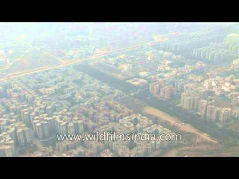 Sky scrapers in the Metro city of Delhi-Gurgaon as seen aerially!