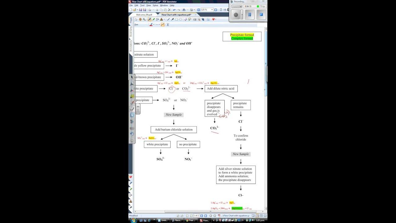 Anions Flow Chart Pdf Youtube