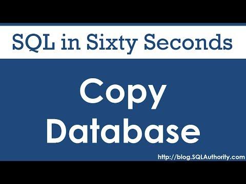 SQL SERVER - Copy Database - SQL in Sixty Seconds #067 hqdefault