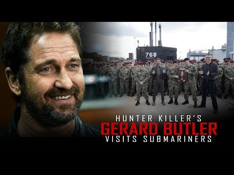 Gerard Butler of Hunter Killer meets real US Navy submariners