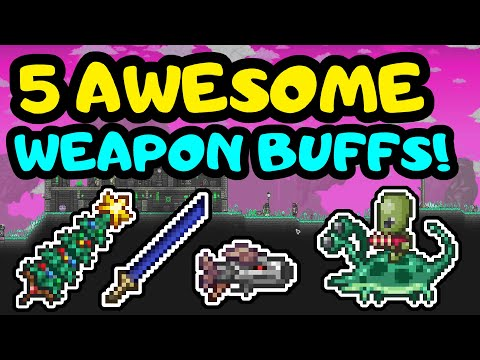 5 AWESOME WEAPON BUFFS IN TERRARIA 1.4! Terraria Big weapon changes and buffs! New effects and stats