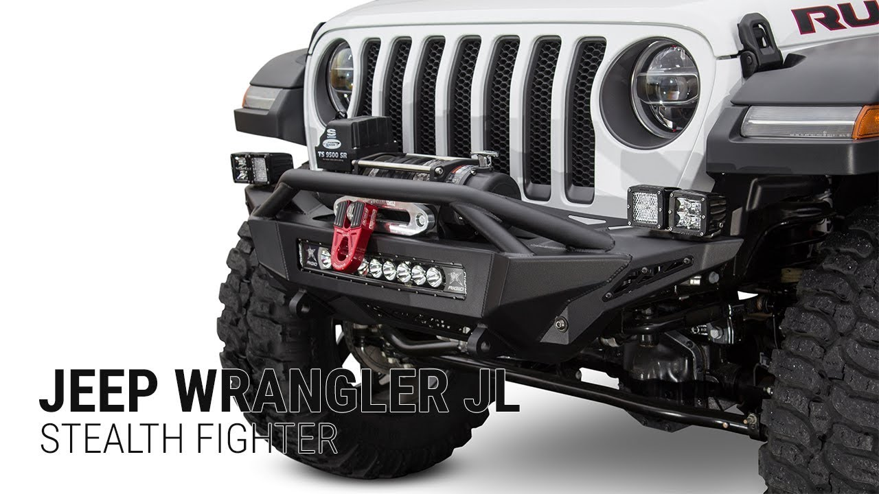 Jeep Wrangler Jl Stealth Fighter Front Bumper Youtube
