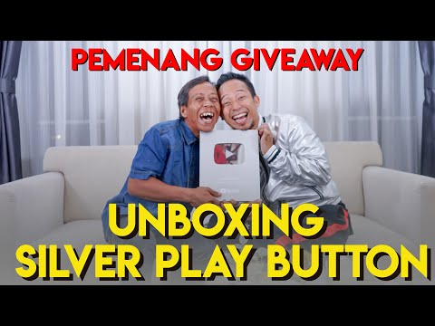 UNBOXING SILVER BUTTON - PEMENANG GIVEAWAY