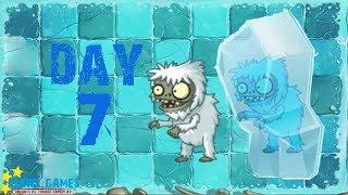 Plants vs Zombies 2 - Frostbite Caves - Day 7 [Yeti Imp] No Premium
