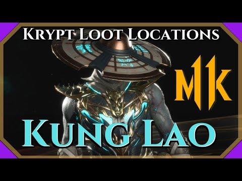 MK11 Krypt Kung Lao Loot Locations - Guaranteed For Kung Lao!