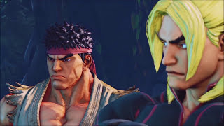 ALL Ken & Ryu Cut-Scenes & Fights: Street Fighter V Story Mode